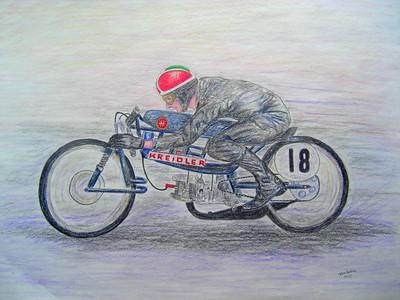 1-Aalt Toersen, 50cc Kreidler record attempt #2  18x24, graphite & color pencil, march 20, 2015 CIMG9661ss
