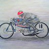 1-Aalt Toersen, 50cc Kreidler record attempt #2  18x24, graphite & color pencil, march 20, 2015 CIMG9661ss