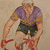 1-Raymond Poulidor- After the Crash, Tour de France, 1968  11x15, watercolor  aug 28, 2015 PICT0005a