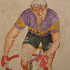 1-Raymond Poulidor- After the Crash, Tour de France, 1968  11x15, watercolor  aug 28, 2015 PICT0005a