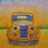 1-Wheatfield Dawn - Abandoned Truck, 9x12, watercolor, july 20, 2015 CIMG1273