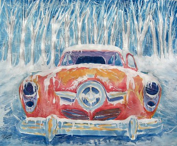 Studebaker; Commander; 14x17; watercolor; finished; march; 2015.CIMG9