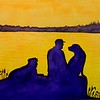 Black Lab Sunset, 11x15, watercolor, sep 30, 2015 DSCN0957a