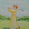 1-Katherine Harley  winning the 1908 USGA Ladies Championship at The Chevy Chase Club , 10x14, watercolor, oct 29, 2015 DSCN8970
