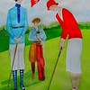 1-Going for a Birdie - 1927, 11x15, watercolor, dec 23, 2015 DSCN9322A