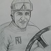 1-Tazio Nuvolari, graphite pencil, 9x11, oct 13, 2015 DSCN8779