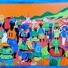 Market Day, Kasane, Botswana, 16x24, acrylic on plywood, oct 20, 2016 DSCN05351