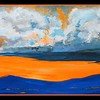 Adirondack Sunrise, 10x20, acrylic on canvas, sep 20, 2016 DSCN0525-A