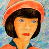 Miss Phryne Fisher, 11x15, gouache3, aug 2, 2016 DSCN0255