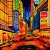 1-Rainy Night on Times Square, 24x36, oil, may 15, 2016 DSCN0678-B