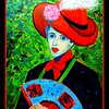 Homage to Alexej Jawlensky - Schokko with Red Hat, 16x20, oil, nov 27, 2016 DSCN0579-1