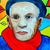Picasso, 11x15, watercolor, nov 18,2016 DSCN05452