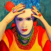 1 Frida, 11x15, gouache, feb 26, 2016 DSCN0080A