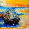 1-Homage to Claude Monet - Haystacks in Winter, 16x20, oil, june 6, 2016 DSCN9940-A