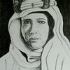 1-Lawrence of Arabia, 14x17, graphite pencil, aug 9, 2016 DSCN0276-A