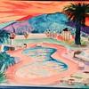 Casa Bella Sunrise  12x15, watercolor, jan 30, 2016