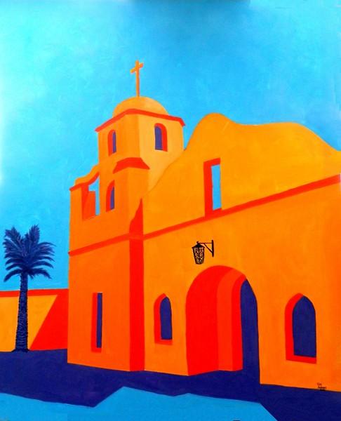 1-Scottsdale Mission #5, 30x36, oil, may 19, 2016 DSCN9745