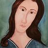 Amadeo_Modigliani  ortrait of Jeanne Hebuterne ,11x14, watercolor, jan 26, 2016A