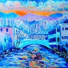 1-Winter Sunrise on the Saranac, 16x20, oil, june 7, 2016 DSCN9951