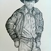 1-The Rancher  12x18, graphite pencil, april 17, 2016 DSCN0469