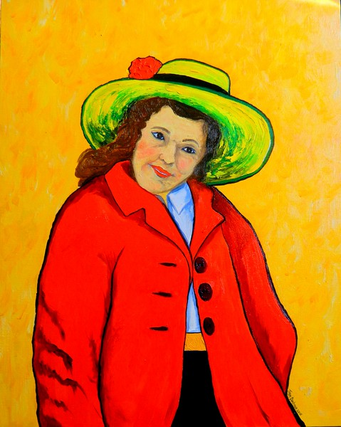 1-Annie - Lady in Red, 16x20, oil, may 22, 2016 DSCN9788