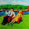 1-An Afternoon on Lake Flower, 16x20, oil, may 30, 2016DSCN9915
