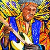1-Jimi Hendrix, 11x15, gouache, march 2, 2016,DSCN0110