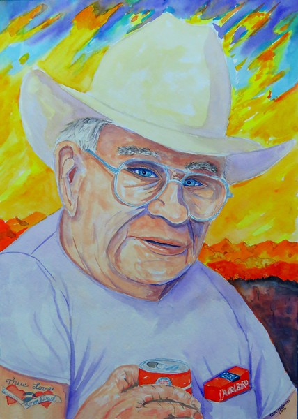 1 1-Dad - april, 1992, Yuma, AZ, 11x15, gouache watercolor, july 1, 2016 IMG_0526