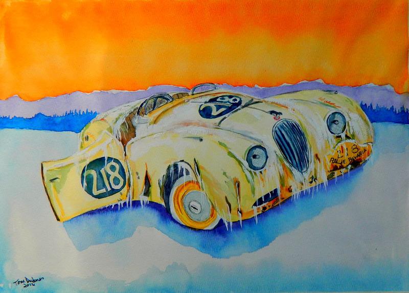 Rallye Bavaria 1948  11x15, watercolor, sep 8, 2016 DSCN0428-A