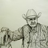 1-The Cattleman 14x17, graphite pencil, april 23, 2016 DSCN0537