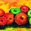 Homage to Paul Cezanne - Nine  Apples  8x16, oil, july 22, 2016 0185