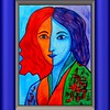 1 1-Homage to Matisse-Portrait of Lydia, 11x15, gouache, feb 23, 2016