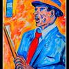 Homage to Leroy Neiman - Sinatra  11x15, acrylic, sep 12, 2016 DSCN0492-A DSCN0492