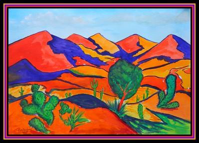 Homage to Andre Derain - Les Arbres #2, 10x14, watercolor, march 10, 2018.DSCN0021-001