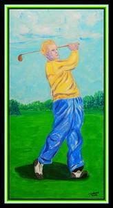 Craig Wood - The Masters, 1941. 12x24, acrylic on canvas, feb 13, 2018.
