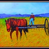 Raking the Hay - 1935. 11x14, acrylic on canvas panel. jan 1, 2018.