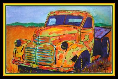 1941 GMC #1, 5.5x8.5, watercolor, jan 5, 2019.gift to Jeff & Margaret Whale, Flowery Branch, GA, oct 16, 2019.