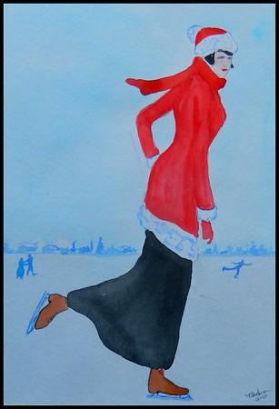 17-On the Ice, 7.5x12, watercolor, feb 5, 2020.DSCN0021B