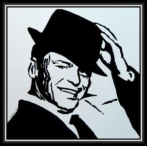 13-Sinatra, 12x12, acrylic on paper, jan 26, 2020.