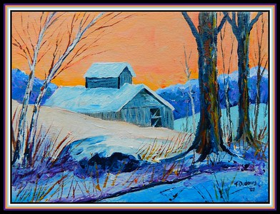 37. Sugar Shack, 9x12, acrylic on canvas panel, march 17, 2020.