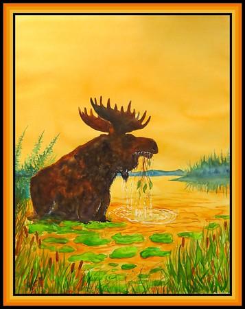 3. Adirondack Moose, 18x23, watercolor, jan 7, 2020.