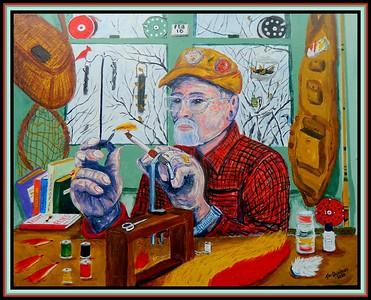 22. Winter Dreaming - Self Portrait, 16x20, acrylic on canvas panel, feb 18, 2020.