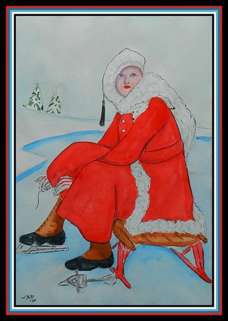11-The Skater, 7.5x12, watercolor, pen, pencil, jan 23, 2020