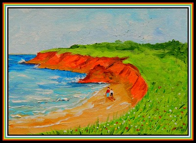 38.Cape John, Nova Scotia, 5x7, acrylic on canvas panel, march 18, 2020.