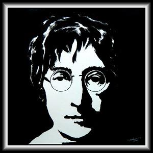 8-John Lennon, 12x12, acrylic on paper, jan 19, 2020. gift to Jenny, Phoenix, AZ,  jan 21, 2020