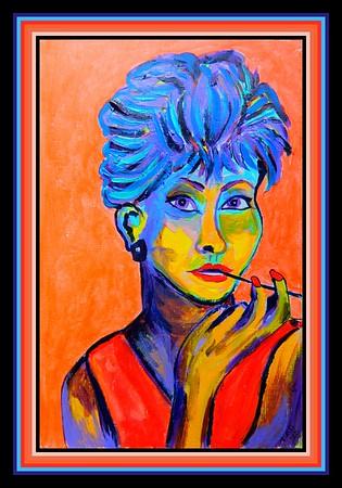 47.Audrey Hepburn, 6x9, acrylic on paper, april 3, 2020.