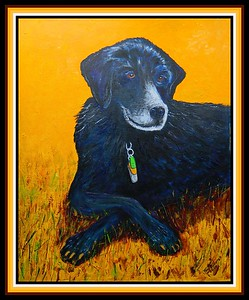 34-Sadie, 16x20, acrylic on canvas panel, march 10, 2020. gift to Ed Grant, March 2020