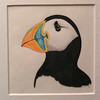Atlantic Puffin, 1980, mixed media, 4x4
