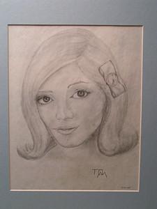 Beauty, dec 31, 1964, pencil, 8x10