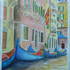 Venice Gondolas, 15x22 watercolor, nov 6,  2012  DSCN1792ss